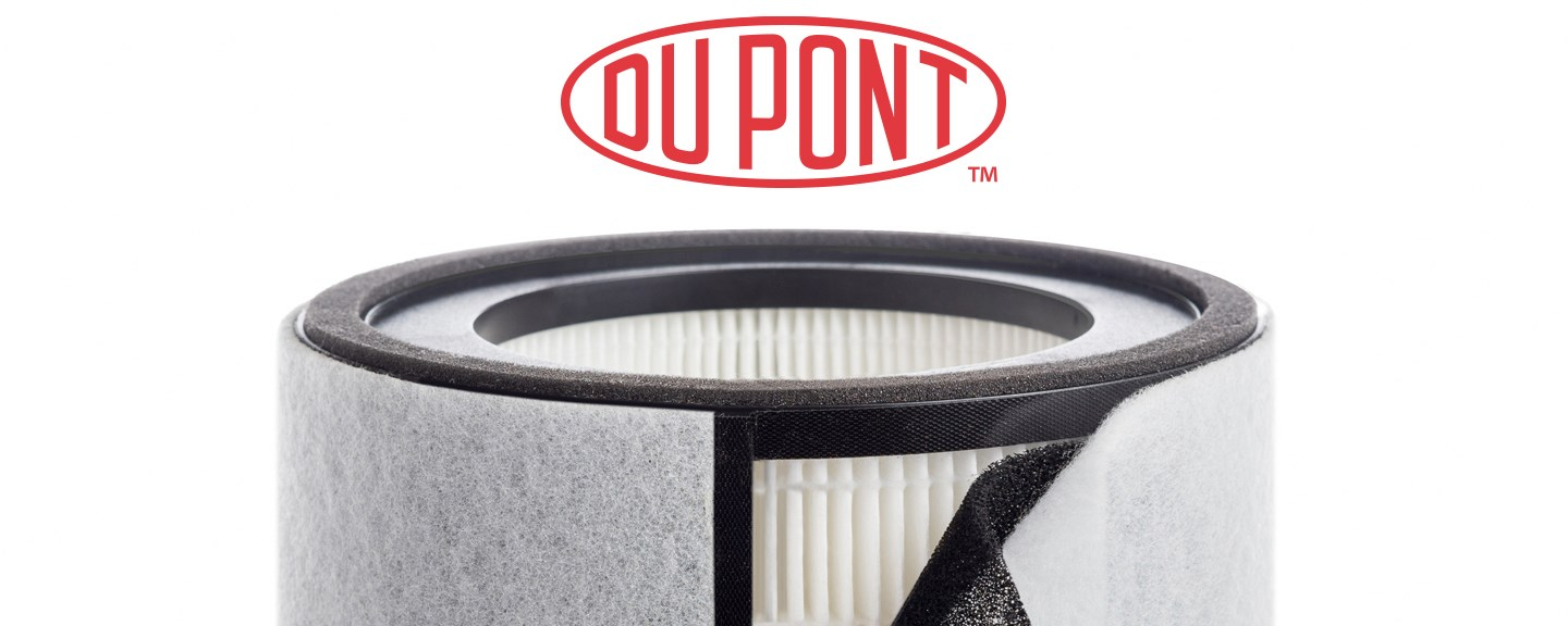 DuPont logo above the TruSens Air Purifier filter.